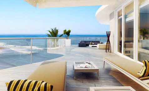 Balcony of Luxury Condo at One Cable Beach Bahamas
