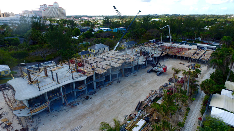Construction on schedule at luxury condo project, ONE Cable Beach